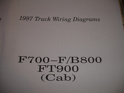 1997 Ford Truck F700 F800 B800 FT 900 Electrical Wiring Diagram Schematic Manual