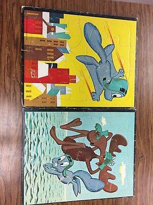 Rocky And Bullwinkle Puzzles 1961 PAT Ward Productions Vintage