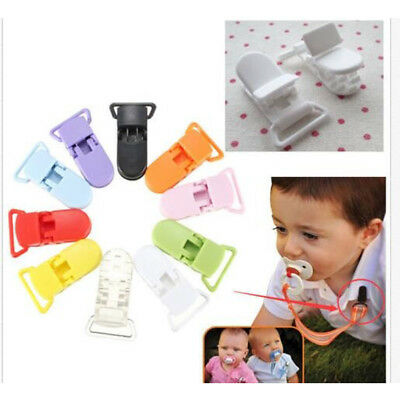5pcs Colored Plastic Pacifier Clips Soother Dummy Bib Suspender Paci Toy Holder
