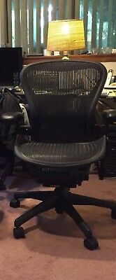 Herman Miller Fully Loaded W/Lumbar PAD Only Size B  Aeron Chair  - USED