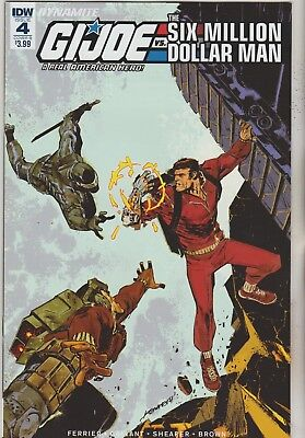 Idw & Dynamite Comics Gi Joe Vs Six Million Dollar Man #4 May 2018 Variant B Nm
