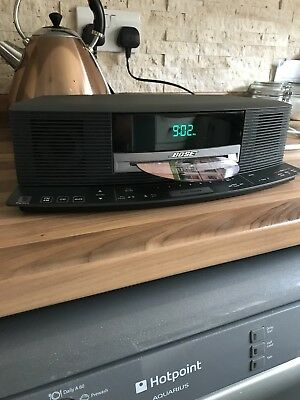 Bose Wave Cd Radio Alarm Clock Graphite Grey Music System With Remote,boselink