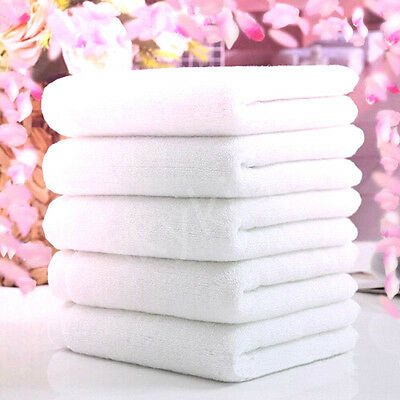 1PC Soft 100% Cotton 73*33cm Hotel Bath Towel Washcloths Hand Towels White  JL