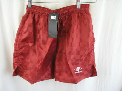 Umbro Youth Checkerboard Shorts Soccer Gym Sports Size Large L Red NWT New