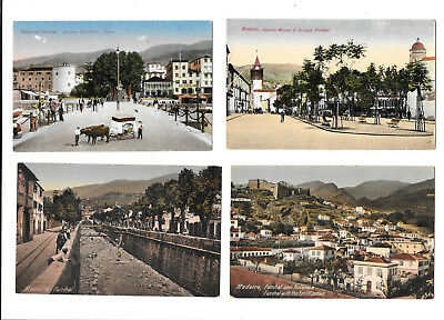 MADEIRA x 8 CARDS - OLD POSTCARDS -  ONE UNDIVIDED BACK - BULK LOT x 8 CARDS