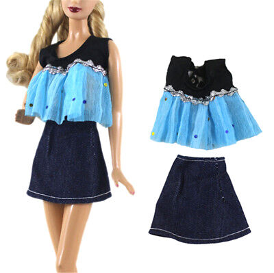 2x/Set Fashion Handmade Doll Dress Clothes for Barbie Doll Party S3H