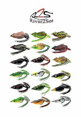 "River2Sea Frog - River2Sea Bully Wa 2 55 Topwater Frog 2 1/4"" Frog Bass Bait"