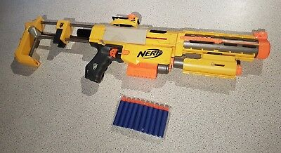 NERF RECON cs-6 toy RIFLE gun AMMO CLIP SCOPE BARREL with new darts