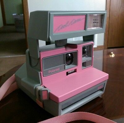 Vintage PINK Polaroid Cool Cam 600 Instant Film Camera With Strap!