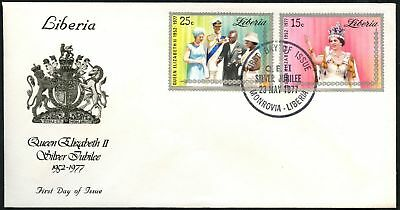 Liberia 1977 Silver Jubilee FDC First Day Cover #C45085