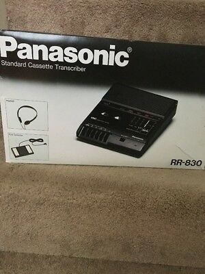 Panasonic Standard Cassette Transcriber Dictation RR-830 w Foot Pedal No Headset