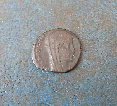 Roman Coin Constantine I Ad 338 Ae 4 Constantinopolis Mint Very Nice Condition