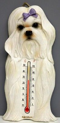 Maltese Thermometer, Indoor/outdoor, Spoontiques, Resin, Item 08211