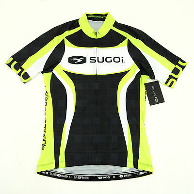 13c074990 Sugoi RS Team Cycling Short-Sleeve Jersey Cannondale Green Black White Large