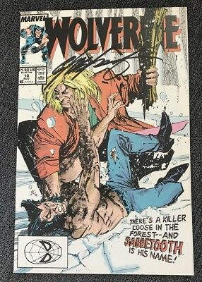 Wolverine #10 1st Wolverine Vs Sabertooth!!!! Signed Chris Claremont NM+