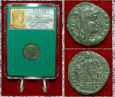 Ancient Roman Empire Coin Of VALENS Walking Victory With Wreath And Palm Branch