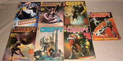 Lot of 7 Vintage 1970's CREEPY Magazines #'s 49,65,67,73.75,86,112