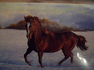 Leanin Tree Beautiful Horse In Winter Christmas Card Set New !