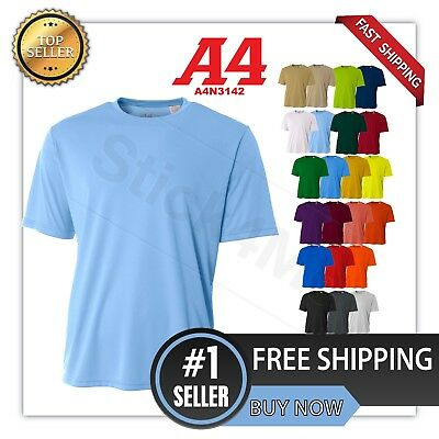 NEW A4 Men's Dri-Fit Workout Running Cooling Performance T-Shirt A4N3142