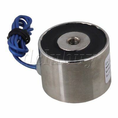 Silver Wired Connector Electromagnet Solenoid Lift Holding WF-P34/25
