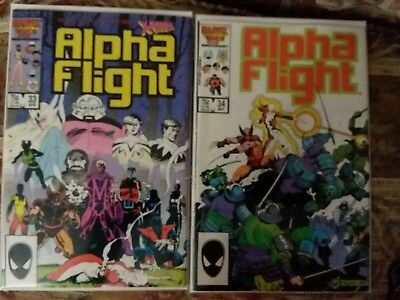 ALPHA FLIGHT #33 & #34 / ORIGIN, 1st CAMEO, FULL,  App LADY DEATHSTRIKE