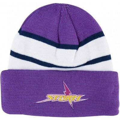 Melbourne Storm NRL 2018 Embroidered Team Logo Beanie!