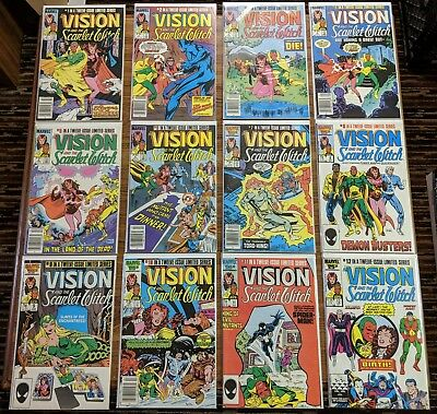 Vision and the Scarlet Witch 1-12 Complete Set 1985 Marvel Comics