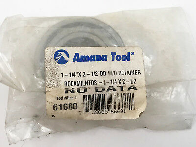 "Amana 61660 Ball Bearing 1-1/4 x 2-1/2 x 5/8"" For Insert Shaper Cutter"