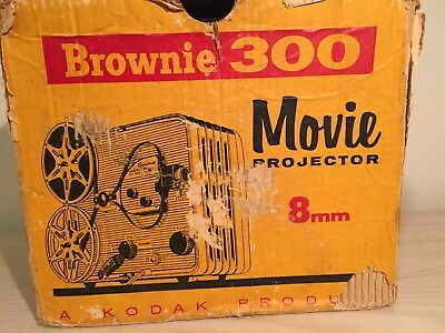 Brownie 300 Movie Projector 8mm Kodak Product with 1.6 Aluminize Lens