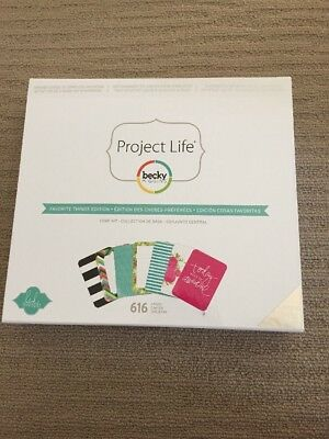 NEW Project Life Core Kit Favourite Things Edition Project Life 616 cards