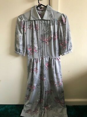 Stunning blue fitted vintage dress size 10