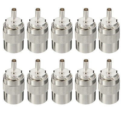 10pcs UHF PL259 Male Connector Prise Soudure RG8 RG213