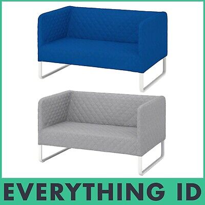 New Ikea Two Seater Sofa Knopparp Lounge Chair Grey Orange Slim Seat Small Light