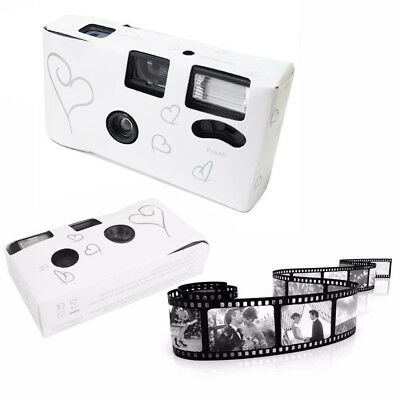 20 x HEARTS DISPOSABLE 36exp WEDDING Bridal CAMERA WITH FLASH AND TABLE CARD