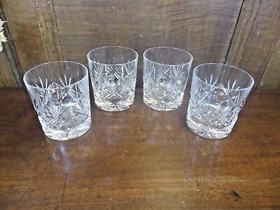 "EXCELLENT Edinburgh Crystal ""NESS"" SET of 4 JUICE/WHISKY TUMBLERS/GLASSES - 3"""