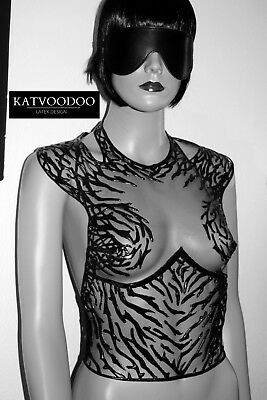 top Latex fetish top 100% rubber and lace fetish fashion club sm latex dress