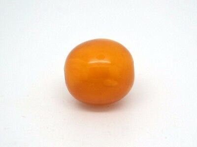 ANTIQUE Genuine BALTIC Real AMBER Red Butterscotch egg yolk bead  1.8 gram 老琥珀