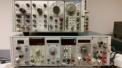 Tektronix Assorted Plug-In Instruments and Two Racks