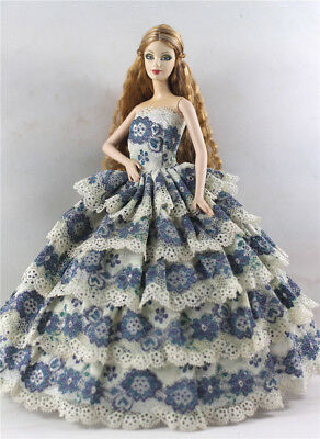 Fashion Princess Party Dress/Evening Clothes/Gown For Barbie Doll p51