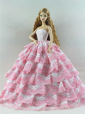 Fashion Princess Party Dress/Evening Clothes/Gown For Barbie Doll p52