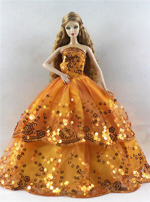 Fashion Princess Party Dress/Evening Clothes/Gown For Barbie Doll p57