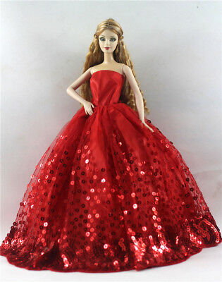 Fashion Princess Party Dress/Evening Clothes/Gown For Barbie Doll p60