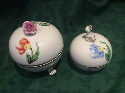 Herend Porcelain Bonbonniere X 2 Selling Kitty Pattern In Perfect condition