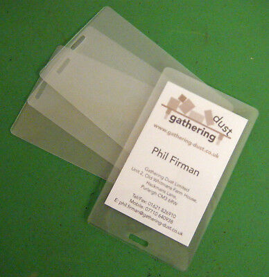 20 x ID Cards Luggage Tag Slotted Laminating Pouches 65x108mm 125 Micron