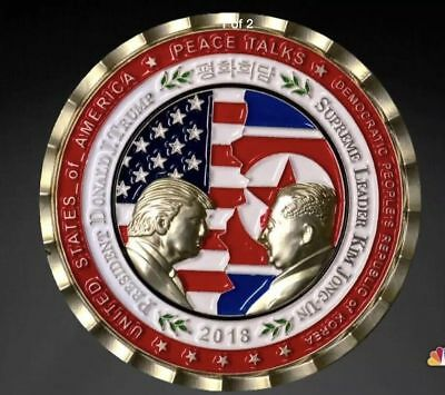 PRESALE -Trump - Kim Jong-Un NoKo Peace Talks / Summit Commemorative Coin