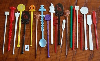 My Lot #2 of Vintage Swizzle Stir Sticks From Airlines, Hotels, Restaurants, etc