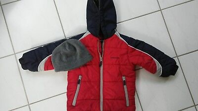 Boys size 4 London Fog winter coat/ coordinating hat in EXCELLENT condition
