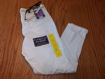 NWT Womens Bandolino LISBETH NEW FIT CURVY ANKLE WHITE CAPRIS PANTS 16  BELTED