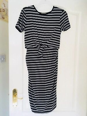 IN STORE Blooming Marvellous Maternity & Nursing Dress Size 10 Black RRP £25