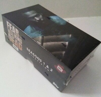 Topps Fear The Walking Dead Season 1 &2 Widevision sealed box card Set + 2 autos